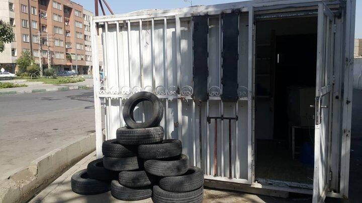 ایجاد اولین غرفه بازیافت لاستیک در منطقه ۱۹