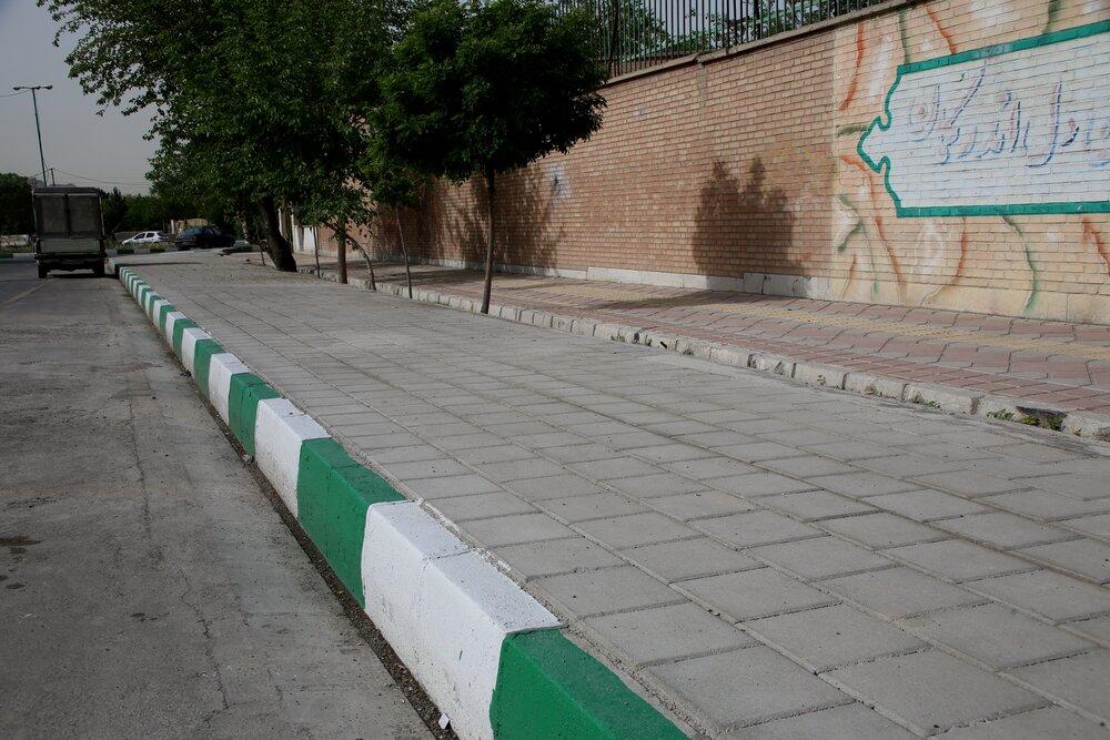 پیاده راه های منطقه ۱۵ بهسازی می شود