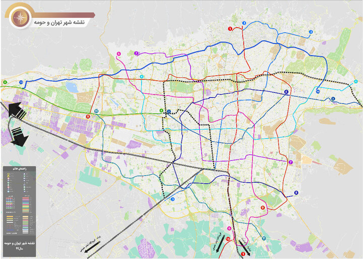 تبدیل شبکه مترو تهران از حالت خطی به شکل حلقه یکپارچه