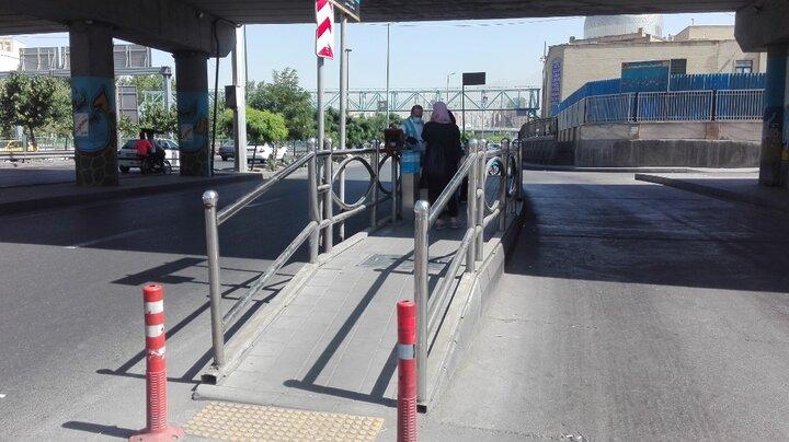 مناسب سازی ۹۰ درصد ایستگاه های اتوبوس ویژه تردد جانبازان و معلولان
