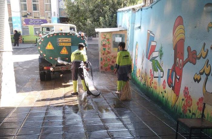نظافت غرب تهران در طرح استقبال از مهر