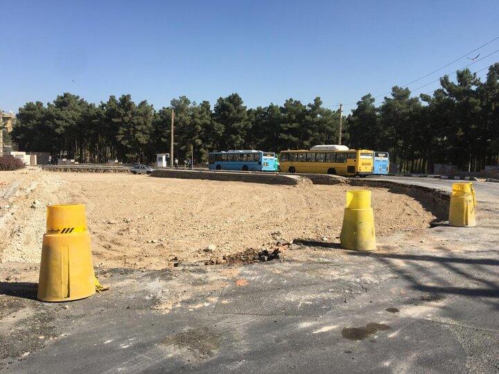 آغاز عملیات بهسازی پایانه اتوبوسرانی بهشت در منطقه ۱۹