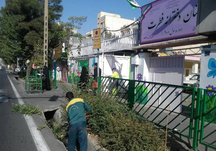 آماده سازی مدارس  شمال شرق تهران همزمان با آغاز سال تحصیلی ۱۴۰۰