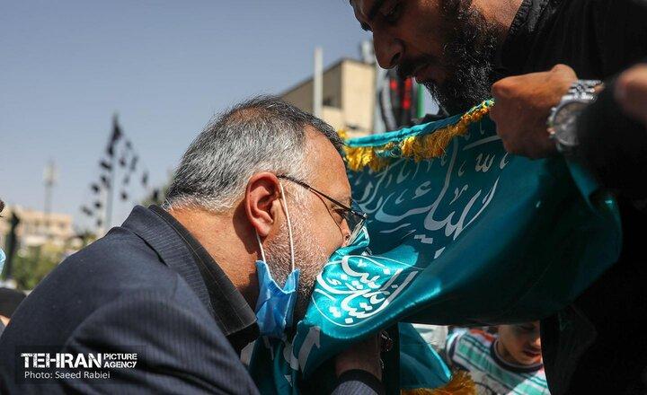 حضور شهردار تهران در مراسم پیاده روی جاماندگان اربعین حسینی