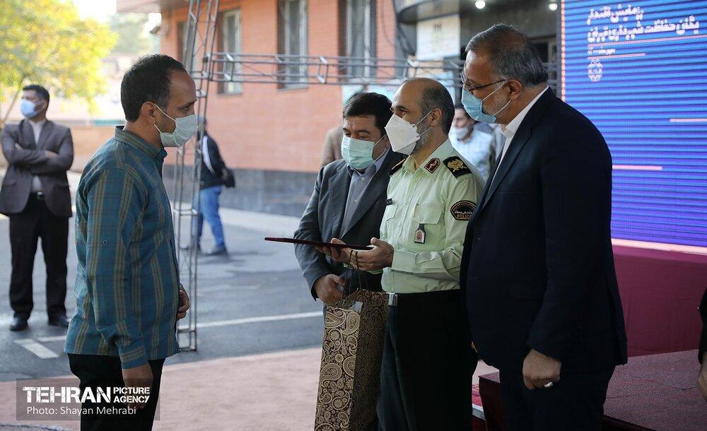 صبحگاه مشترک یگان حفاظت شهرداری تهران با حضور شهردار تهران