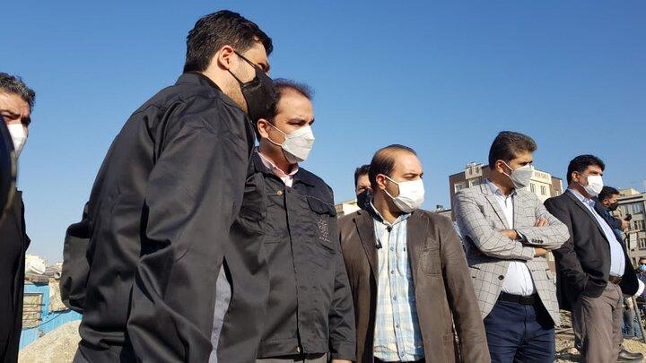 بازید از پروژههای مدیریت شبکه سیلاب شهر تهران