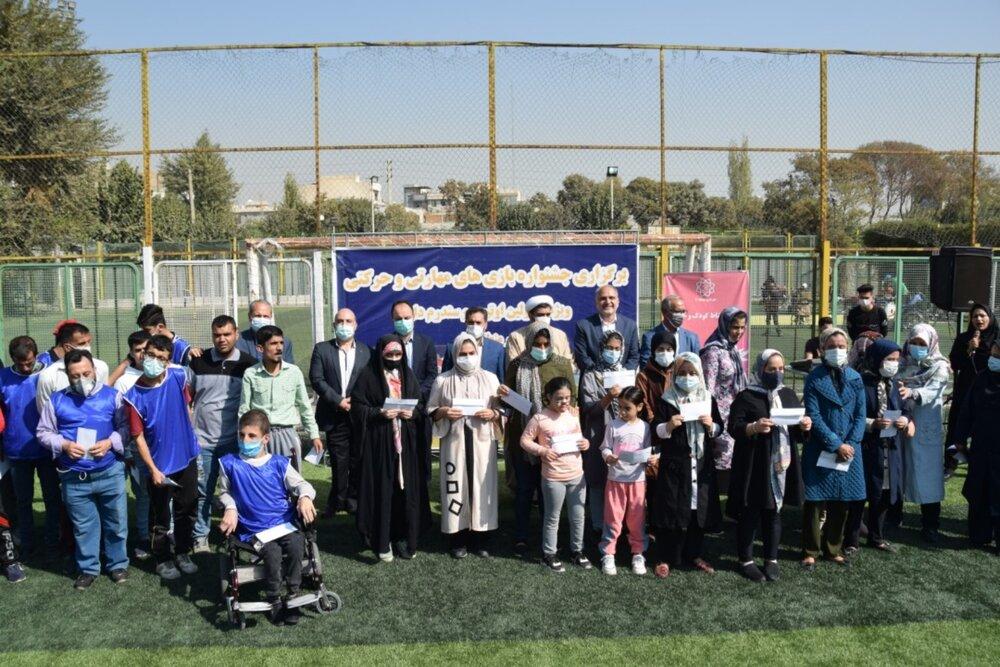 برگزاری جشنواره بازیهای مهارتی و حرکتی ویژه معلولان