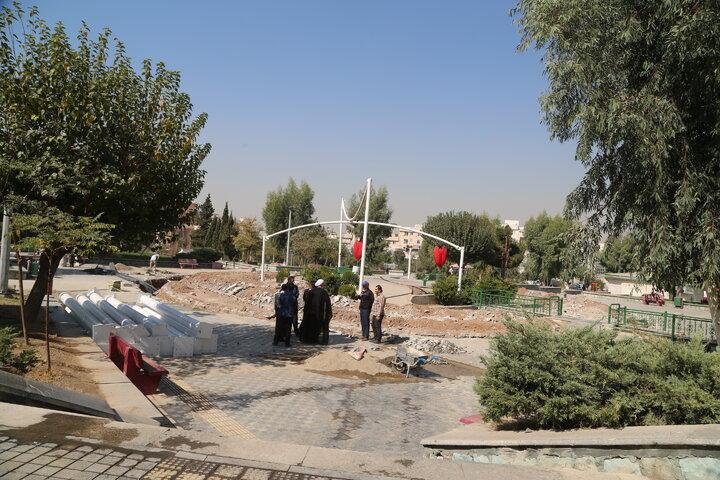 احداث سازه مقبره الشهدای بوستان والفجر به سبک معماری اسلامی