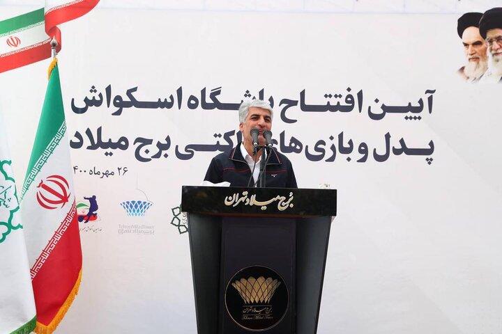 فعالیت ۲۸ سالن اسکواش در مجموعههای شهرداری تهران