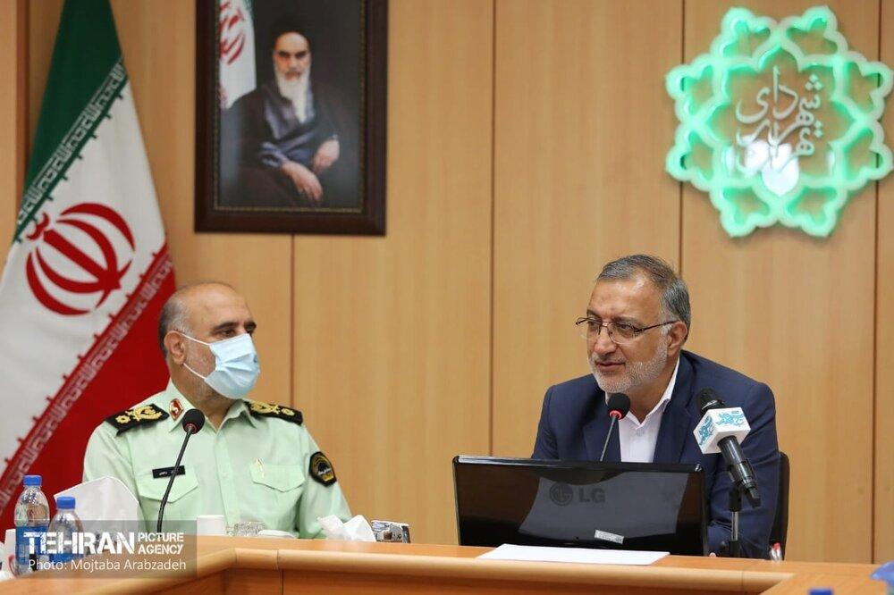 دیدار و گفتوگوی مدیران شهری و روسای پلیس های تخصصی فرماندهی انتظامی تهران بزرگ